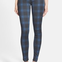 Women's Hudson Jeans 'Nico' Mid Rise Skinny Stretch Jeans (Cadet Punk Plaid)