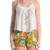 Lush Clothing - Tribal Cut Out Tank - Medium