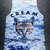 C.R.E.A.M. Cats Rule  all over 3D print jersey
