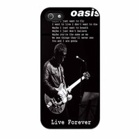 Oasis Live Forever Noel Gallagher Lyrics iPhone 5 Case