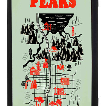 Twin Peaks Welcome To Twin Peaks Map Samsung Galaxy S3 Cases - Hard Plastic, Rubber Case