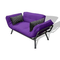 American Furniture Alliance Modern Loft Collection Futon Mali Flex Combo, Purple/Black Polka Dot: Home & Kitchen