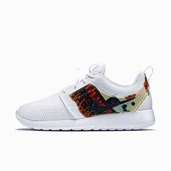 """Nike"" Fashion Women Sport Shoes Casual Sneakers honeycomb white print"