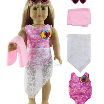 Swimming Pool beach 1 Set Swimming Suit Outfit Doll Clothes for 18'' American Girl A49Swimming Pool beach KO_14_1