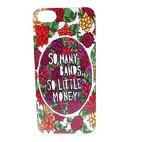 So Many Bands, So Little Money Hand-Drawn Floral Phone Case