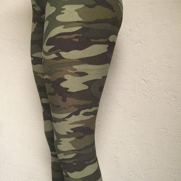 Camo Leggings, Custom Leggings, Skull Leggings, Camo, Cute Leggings