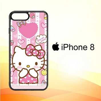 Hello Kitty Candy Pink L1944 iPhone 8 Case