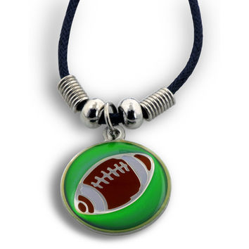 I Can Do Football Mood Necklace