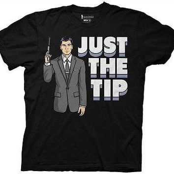 Archer Just the Tip FX TV Funny Cartoon Cotton Adult T Shirt