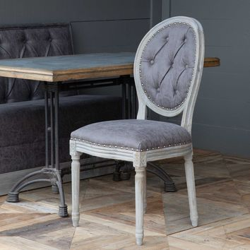 Mule Muzzle Tufted Back Dining Chair