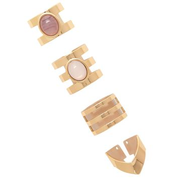 Cutout Midi Ring Set