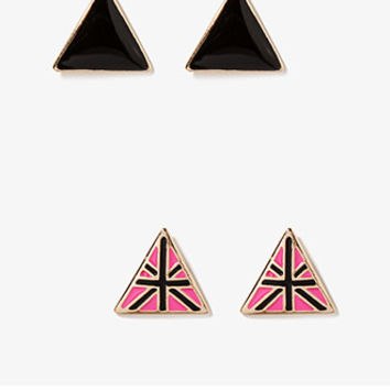 Triangle & Cross Stud Set