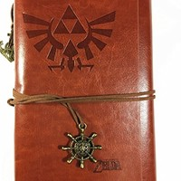Vintage PU Leather Notebook for Diary, Travel journal and Note,card holder-Legend of Zelda