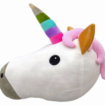 Unicorn Emoji Pillow - Cute