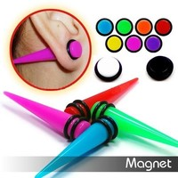MAGNETIC NON PIERCING FAKE CHEATER EAR TAPER 8mm