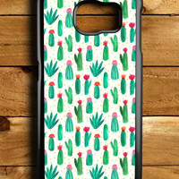 Cactus Cute Collage Samsung Galaxy S6 Case