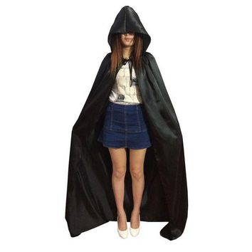 ESBONIS Fancy Halloween Costumes Adult Child Hooded Cloak Witche Vampires Robe Gothic Hood Masquerade Halloween Cosplay Dress