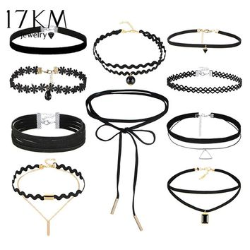 Bohemian Gothic Tattoo Choker Necklaces Set for Women