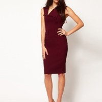 Hybrid Dress With Neck Panel And Peplum Detail at asos.com