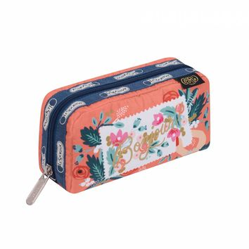 Rectangular Cosmetic Bonjour Print by LeSportsac | Imported