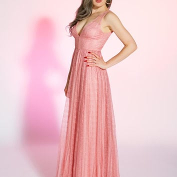 Butterfly Effect Gown in Blush Pink