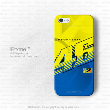 Valentino Rossi VR46 Movistar Yamaha Motogp Team iPhone 5 5s Case