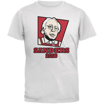 Election 2016 Kentucky Fried Bernie Sanders White Adult T-Shirt