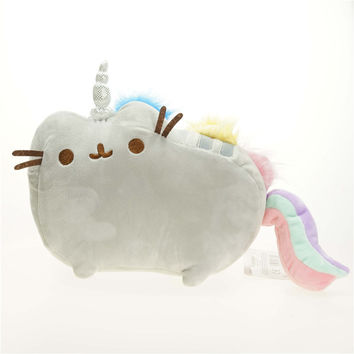 Cartoon Soft Pusheen Cat Cushion Plush Toys As Gift For Children Kawaii Animal Cat Rainbow Cute Toys Free Shipping