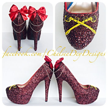 Army Cavalry Glitter High Heels
