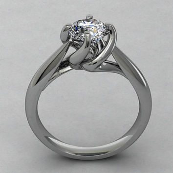 Twisted Engagement 3D CAD  Ring -C6