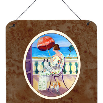 Lady with her Japanese Chin Wall or Door Hanging Prints 7260DS66
