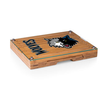 Minnesota Timberwolves - 'Concerto' Glass Top Cheese Board & Tools Set by Picnic Time