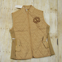 Quilted Vest with Monogram