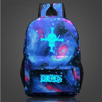 Fairy Tail Japan Anime Printing School Bag for Teenagers Cartoon Travel Bag Nylon Sports Mochila Galaxia Backpack