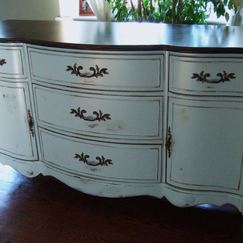 Lightly Distressed French Country Buffet in an Elegant by Artisan8
