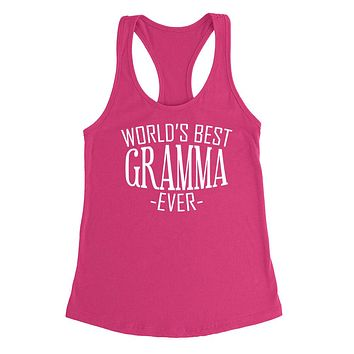 World's best gramma ever  family mother's day birthday christmas  gift ideas  best grandma  grandmother  Ladies  Racerback Tank Top