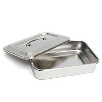 Steriliser Container Medical Stainless Steel Sterilizer Nursing Medical Dressing Tray Dish With Cover For Eyebrow Lip Tattoo