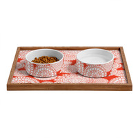 Heather Dutton Delightful Doilies Saffron Pet Bowl and Tray