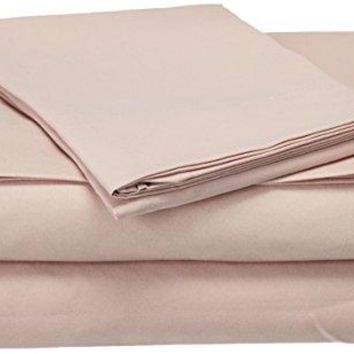 Natural Comfort Easy Care 4-Piece Microfiber Sheet Set, Full, Rose Smoke