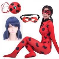 Lady Bug Costumes for Kids Girls Ladybug Costumes Adult Lady Bug Miraculous Marinette Zentai Suit for Halloween Cosplay
