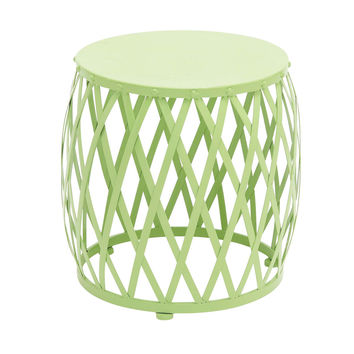 The Different Metal Green Accent Table