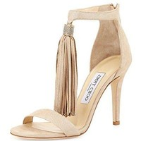 Jimmy Choo Viola Nude Tassel Shoes 39.5
