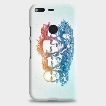 Coldplay Faces Lyrics Design Google Pixel XL 2 Case