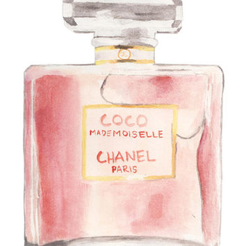 Chanel Mademoiselle Perfume Bottle Art Print by Riley Moore