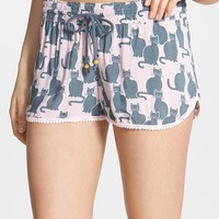 Women's PJ Salvage 'Challe Chic' Crochet Trim Shorts (Nordstrom Exclusive)