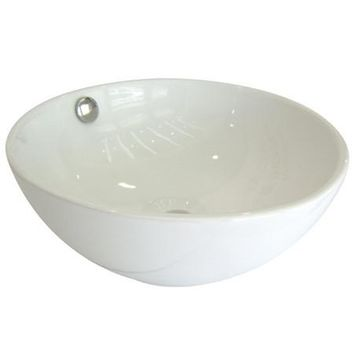 EV7048  Le Country China Vessel Bathroom Sink with Overflow Hole