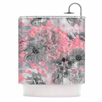 "Zara Martina Mansen ""Floral Blush"" Pink Gray Shower Curtain"