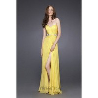 A-Line Strapless Floor-Length Chiffon Prom Dress SAL0949