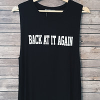 Back At It Again Tank (Black)
