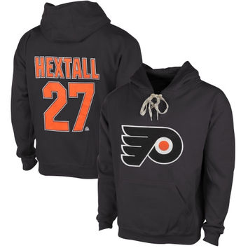 Ron Hextall Philadelphia Flyers Old Time Hockey Malcolm Skate Lace Alumni Hoodie – Heather Gray